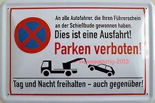 Schild 20x30 cm - Parken verboten Einfahrt Ausfahrt frei halten gewonnen Hinweis