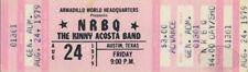 NRBQ KENNY ACOSTA 1979 Unused Concert Ticket