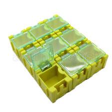 50 x Yellow Mini Electronic Component Parts Case Box Laboratory Storage SMT SMD