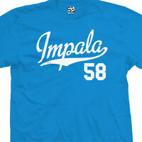 Impala 58 Script Tail T-Shirt - 1958 Lowrider Classic Tee - All Sizes & Colors