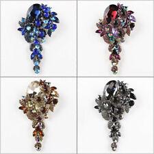 1pc Vintage Blume Cluster Anhänger Brosche Anstecknadel Strass Kristall Schmuck