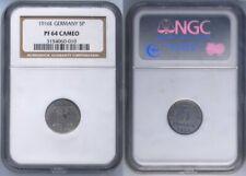 5 Pfennig Fer Pièce J.297 1916 E Pp Seulement Peu Exemplaires NGC Pf64 Cameo