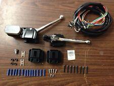 BLACK HANDLEBAR CONTROL KIT W SWITCHES HARLEY 73-81 3/4 BORE XL FX FL SHOVELHEAD