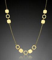 ECHT GOLD *** Feines Viereck-Motiv Collier Kette 42-45  cm