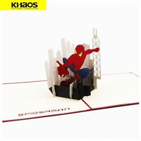 Greeting Card 3D Pop Up Card Christmas Birthday Wedding Gift Cartoon Spider-Man