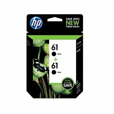 2 Pack Genuine HP 61 Ink Black Combo Pack CH561WN Retail box, exp 2020