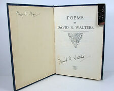 POEMS; David R. Walters; Privately Published; SIGNED BY THE AUTHOR