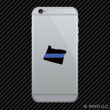Oregon State Shaped The Thin Blue Line Cell Phone Sticker Mobile police support