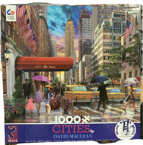 David Maclean Cities Ceaco 1000 Pc Puzzle New York Fifth Avenue.