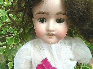 """ANTIQUE S&H (SCHOENAU AND HOFFMEISTER)  BISQUE HEAD DOLL-18"""" LONG-MOLD NUM-1909"""