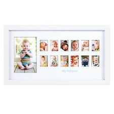 My First Year Baby Picture Frame 12 Month Photo Frame Photo Baby Moments White