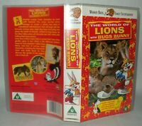 The World Of Lions - Bugs Bunny Children's VHS Tape & Case. VHS, Collectable VHS