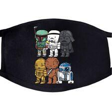 Cute Star Wars Face Mask  - C3PO, R2D2, Chewbacca, Darth Vader, SALE!