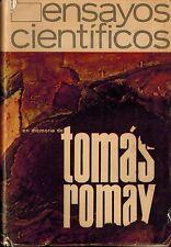 Cuba Ensayos Cientificos, En Memoria de Tomas Fomay, Cuban Science SCARCE 1968