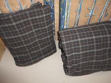 CALVI KLEIN BLACK ORANGE PLAID (2PC) SET QUEEN FLAT & FITTED  SHEET