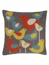 John Lewis - 100% Cotton Cushion Covers Scandi Bird - Embroidered - Koltrast