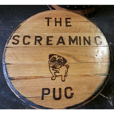 Bespoke Recycled Solid Oak Whisky Barrel End House | Pub Signs | Plaques