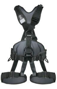 Singing Rock PROFI WORKER 3D black: fully adjustable harness