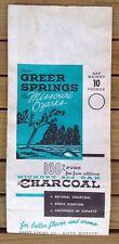 Vintage Advertising Bag-Greer Spring Charcoal-Missouri Ozarks-Eleven Point River