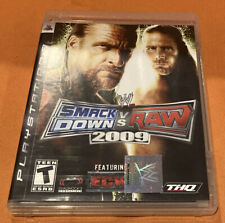 WWE Smackdown vs Raw Featuring ECW 2009 Playstation 3 PS3 Complete Wrestling