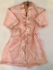 Vintage Handmade Flannel Baby Jacket Gown Robe Pink Floral