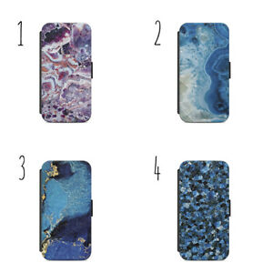 materials texture pattern stone marble Wallet Flip Case Cover IPhone Samsung