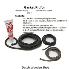 Vermont Castings Gasket Kit Defiant 1910 & 1945  Stove rope 0004322 4322
