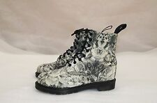 DR.MARTENS BECKETT ROSE AND SKULL CANVAS BOOTS SHOES size UK-7 USA-8 EU-41