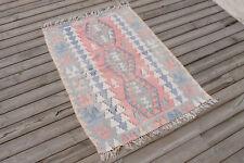 Turkish Kilim Rug 32''x43'&# 039; Hand Woven Kayseri Kilim 83x110cm Vintage Rug Wool