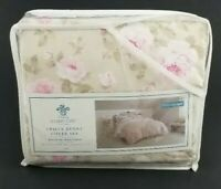 Shabby Chic Full/Queen 3 piece Duvet Cover Set Duchess Rose Blossom Floral New