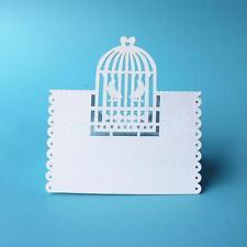 50pcs Wedding Birthday Birdcage Love Bird Table Wine Glass Place Name Cards