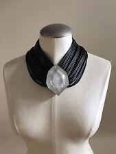 NWOT MONIES Facet Pendant Leather Strand Necklace