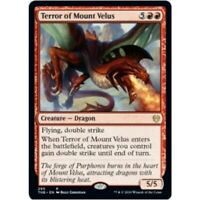 TERROR OF MOUNT VELUS NM mtg Theros Beyond Death Red - Dragon Rare
