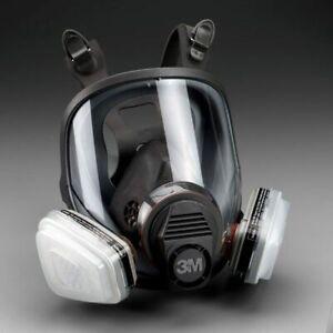 3M, 7 IN 1, 6800 Full Face Reusable Respirator For Spraying & Painting, MEDIUM