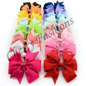 20 X Alligator Bow Hair Clip Handmade Clips Girls Ribbon Kids Sides Accessories