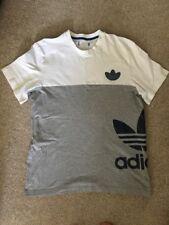 Adidas Team T Shirt Size L White Grey Blue