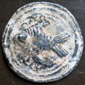 18th circa.--SOUTHEAST ASIA--ANCIENT COIN---FISH--dia. 45 mm.