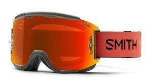 Smith Squad MTB Bike Goggles Sage / Red Rock ChromaPop Everyday Red + Bonus New