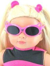 Pink Kitty Cat Sunglasses 18 in Doll Clothes Accessory Fits American Girl