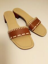 MIU MIU  New Without Box  Patent Leather  Brown/Beige  Sandals  Mules  Size:36