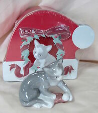 Nao By Lladro Kitty'S Christmas Brand New In Tin Box #7428 Porcelain Save$ F/Sh