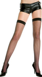 Queen Womens Plus Size Fishnet Thigh Highs, Plus Sized Stockings