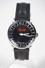Mechanical watch RAKETA CCCP 24-HOUR. New. Black dial. 34mm case