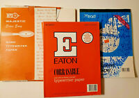 Vintage Eaton Corrasable Typewriter Paper (Lot of 159 assorted sheets)
