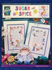 Cross Stitch Pattern Sugar & Spice All Things Nice Frogs Snails Puppy Dog Tails