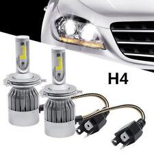 Pair COB H4 C6 Auto Car Headlight Kit Hi/Lo Turbo White Light Bulbs 10800LM 120W