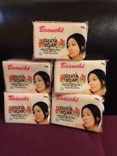 5 Bars BEAUCHE INTERNATIONAL GLUTA SOAP SUPER WHITENING LOT OF 5 SOAPS