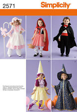 Motivo Da Cucire semplicità 2571 Toddlers Costumi Bo Peep LITTLE RED RIDING HOOD