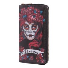 Fashion Women Skull Wallet Phone Case Clutch Purse Lady Long Handbag Card Holder