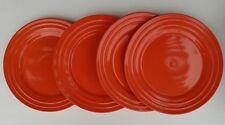 "Lot of 4 - Rachel Ray - Orange - Double Ridge - Dinner Plates - 11"" - 58557"